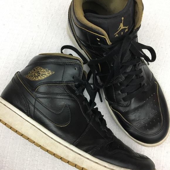 b72780c48a Air Jordan Shoes | Cco Nike 1 Retro Black Metallic Gold | Poshmark